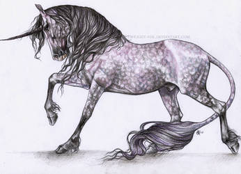 Dapple Rose Unicorn by Twilight-Veil