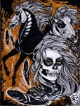 Skull Face Paint by Twilight-Veil