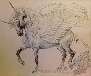Two-Headed Winged Unicorn by Twilight-Veil