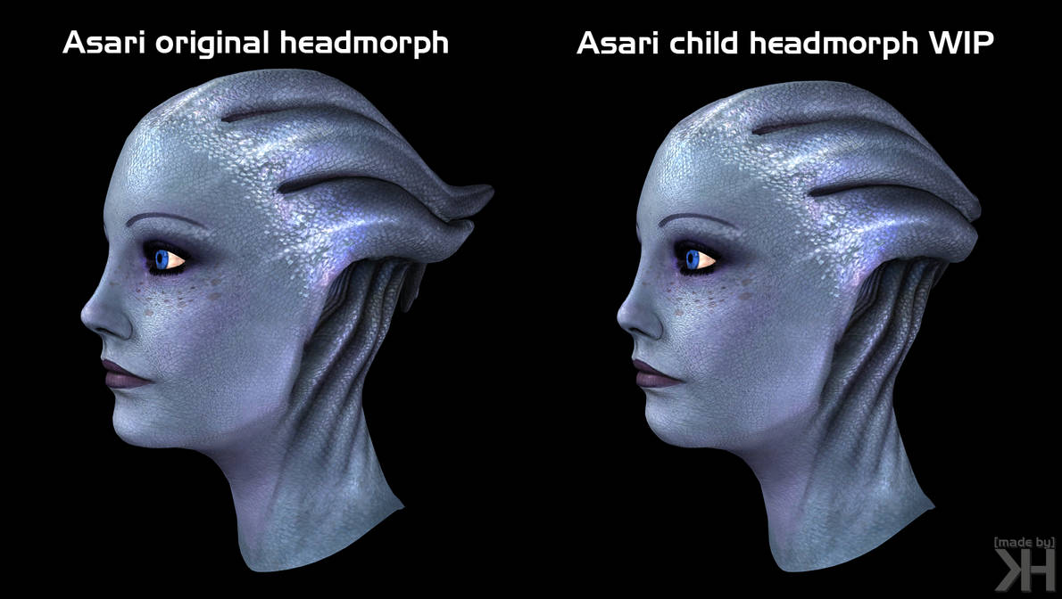 Asari Headmorph Wip By Grummel83 On Deviantart