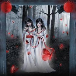 Crimson Butterflies by Eireen