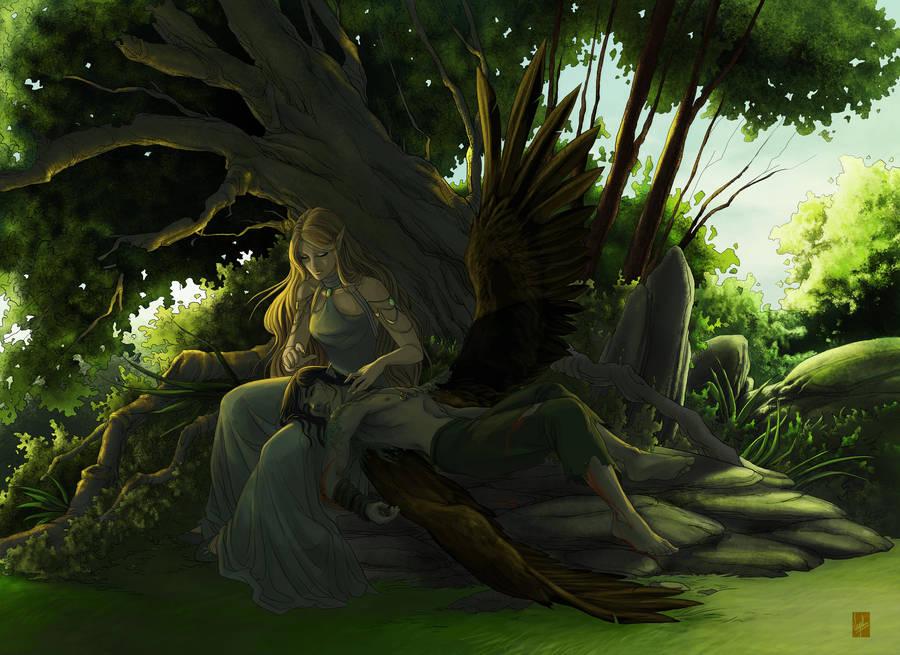 Nimri and Morgan by Vyrhelle-VyrL