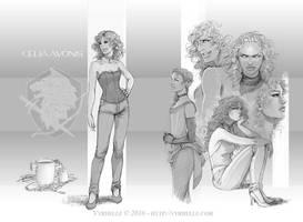 Celia Avonis for artbook by Vyrhelle-VyrL