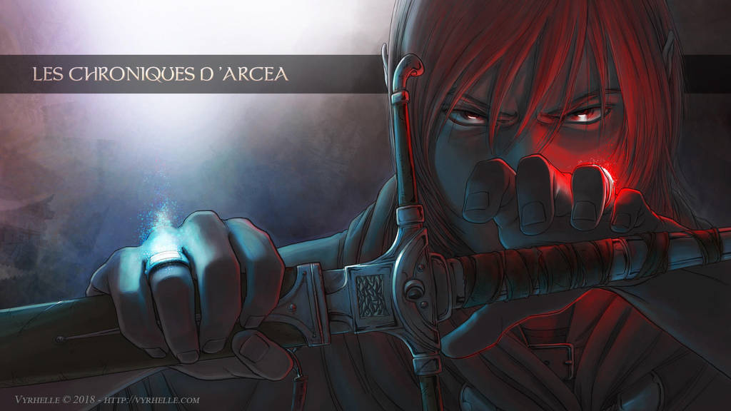 The Chronicles of Arcea III Cover (wallpaper) by Vyrhelle-VyrL