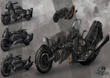 Dieselpunk Bike Designs by SprinKah