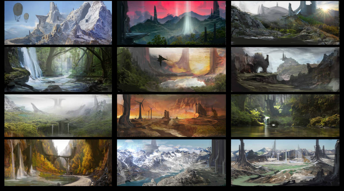 environment thumbnails by SprinKah