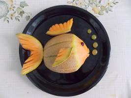 Cantaloupe fish by NadienSka