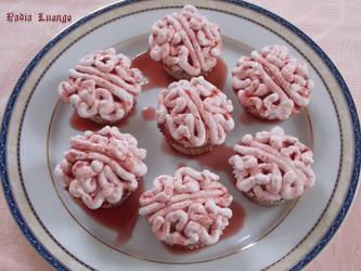 Brain cupcakes by NadienSka