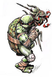 WATERcolor RAPHAEL by jerkmonger