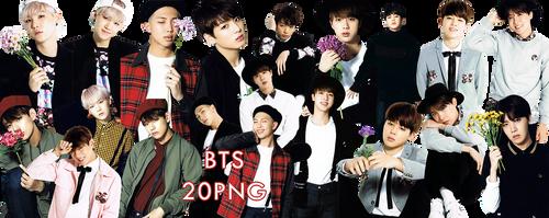 BTS PNG Pack {I Need You Japanese} by kamjong-kai