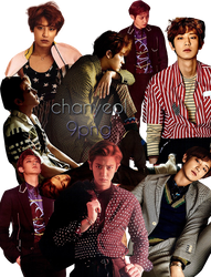 EXO Chanyeol PNG Pack {L'Officiel Homme} by kamjong-kai