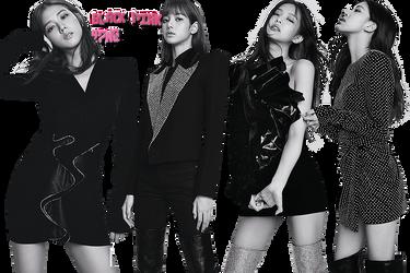 Black Pink PNG Pack {ELLE} by kamjong-kai