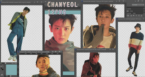 EXO Chanyeol PNG Pack {The Celebrity} by kamjong-kai