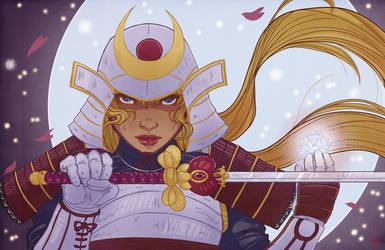 Samurai Moon by xandrei