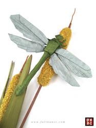 Origami Dragonfly by Origamikuenstler