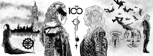 The 100 - Lexa and Clarke by DanielGreyS