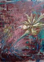 quick study.bloom -acrylics and pen on canvas by AS-VelveteenRabbit