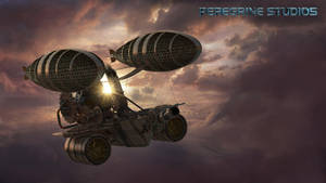 Steampunk Airship by PeregrineStudios