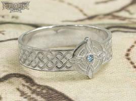 Silver Ring of Mara set with Aquamarine by PeregrineStudios