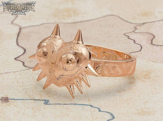 Ring - Majora's Mask (Rose Gold-Plated Brass) by PeregrineStudios