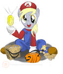 Derpy's Mario Costume by TheSouthernNerd