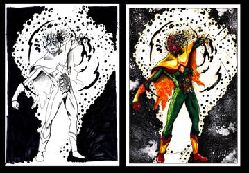 Coloring: Vision - Civil War by PeaceMakerSama