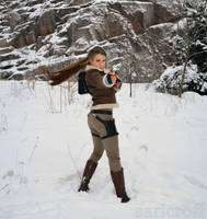 Lara Croft in winter action by sari-croft