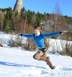 Lara Croft in winter action 2 + free download by sari-croft