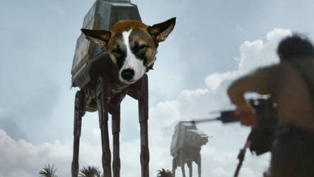 Puppy AT-AT by KingYakko5991