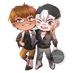 CM: Adam and Shiro by Silverpeel