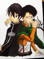 Kirito X Levi by Cane-the-artist