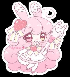 CLOSED CRAYON ADOPT Dessert Bunny by Valyriana