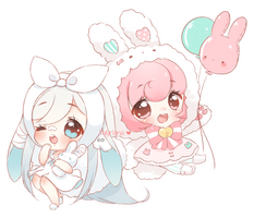 C: Crayon Chibis for anaxxxx by Valyriana