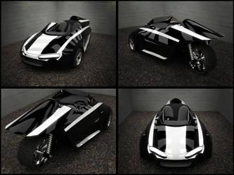 3 Wheel Concept Vehicle View by akatsukireborn