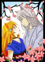 Under the Sakura trees by Sessinara