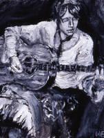 The Folk Singer by 5-blue-marks