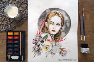 Watercolour girl by Vegeta3690