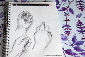 Hand sketches by Vegeta3690