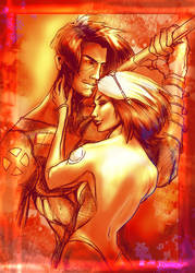 rogue and gambit by brainleakage