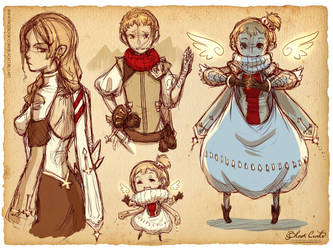 Random character design doodles by Black-Curls