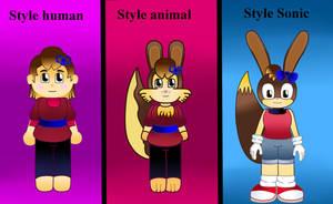 Tre Style Character  by Vickicutebunny
