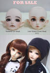 For Sale BJD heads by MarieAngelcakes