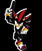 Shadow the hedgehog with a non descript gun by Majayrick