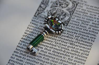 Green Swarovski Crystal Key by geekatheart