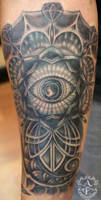 Geometric Eye Tattoo done by Sean Ambrose by seanspoison