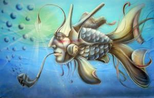 Undderwater Wiseman by chebot