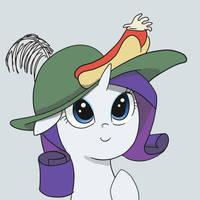 Rarity's Silly Hat by spicyhamsandwich