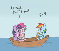 Bread Boat by spicyhamsandwich