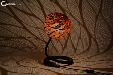 Table lamp XXV Leaferis by Calabarte