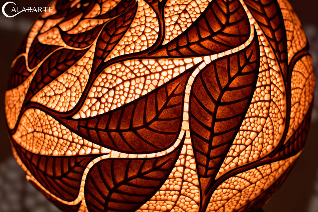 Table lamp XXVII Escher's Leaves by Calabarte
